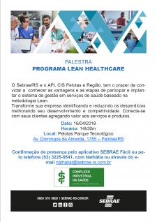 Parceria APL Saúde e SEBRAE/RS convidam para Palestra LEAN HEALTHCARE