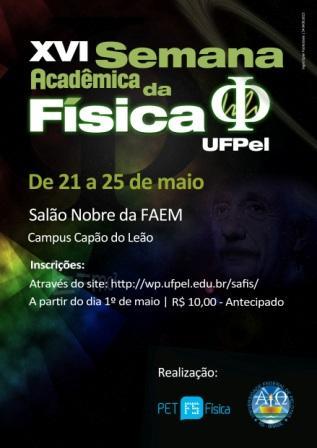 Convite: XVI Semana Acadêmica do curso de Licenciatura em Física – UFPEL