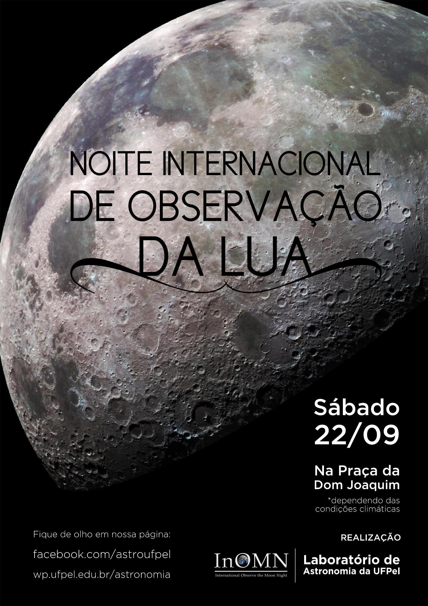 Hoje: Noite Internacional de Observação da lua!