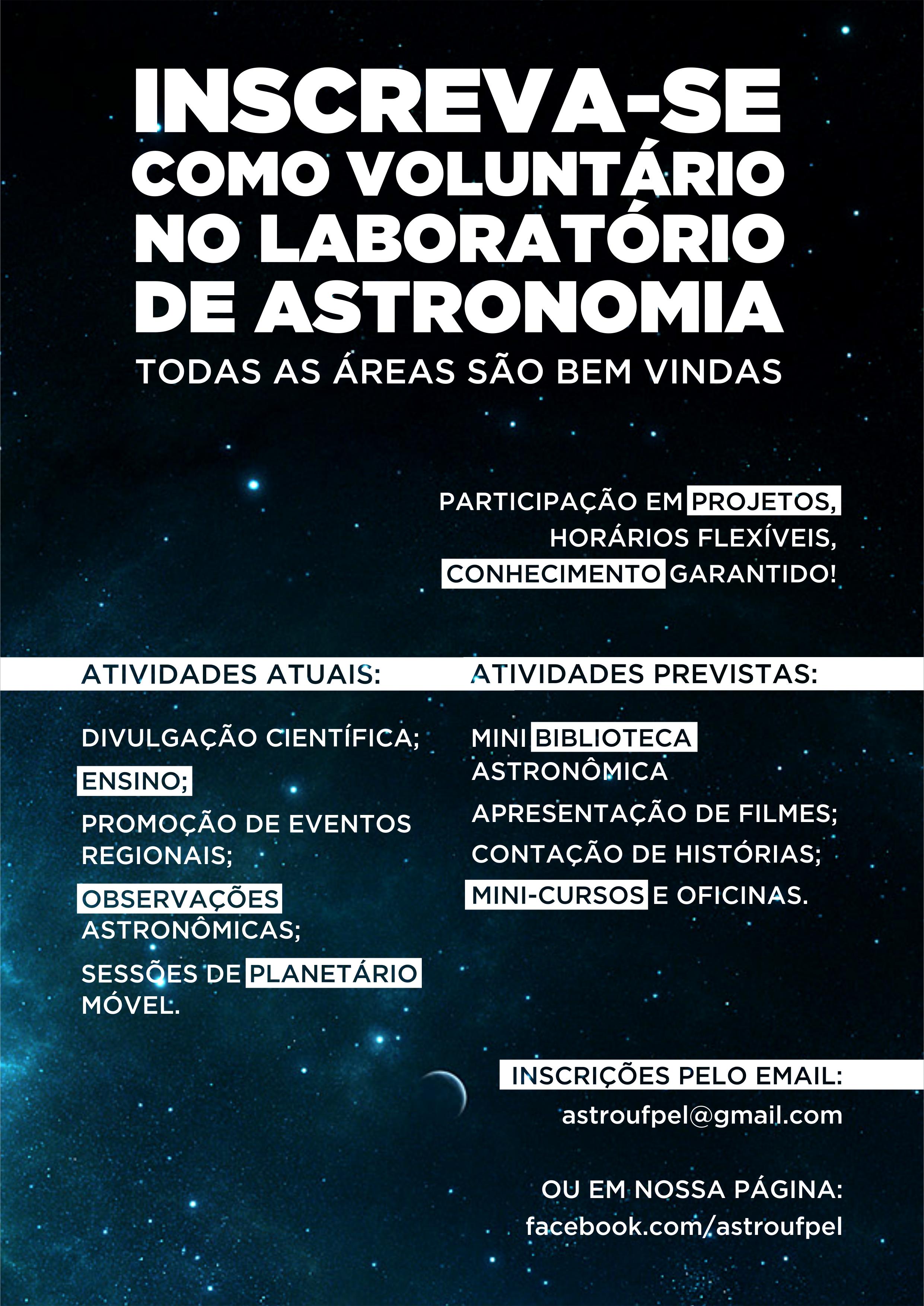 Programa de Voluntariado Laboratório de Astronomia