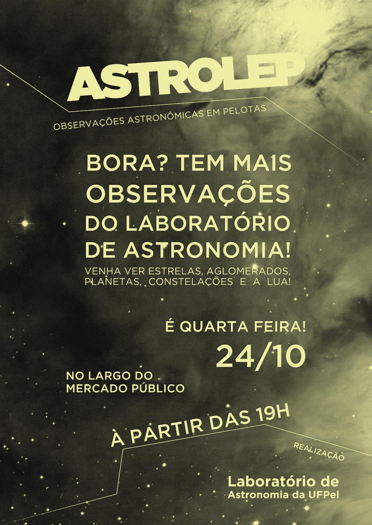 Obervação Astronômica Pública! É quarta-feira!