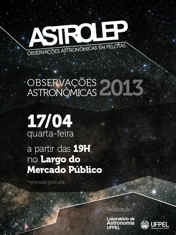Hoje tem observação astronômica!