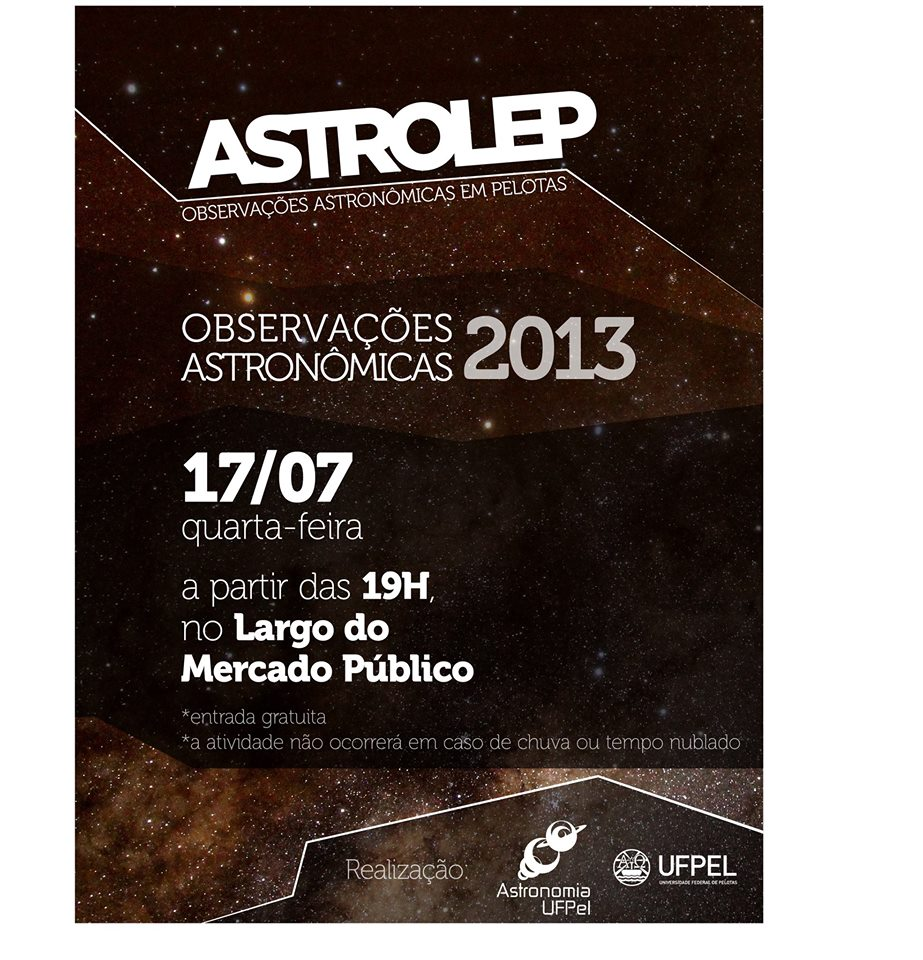 Observação Astronômica Pública: HOJE!