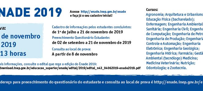 LOCAIS DE PROVA ENADE 2019