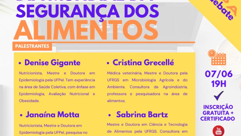 GEQSPA DEBATE: WEBINAR EM PROL DO DIA MUNDIAL DA SEGURANÇA DOS ALIMENTOS – 2021.