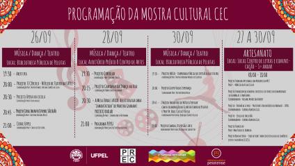 Mostra Cultural do CEC - Programação