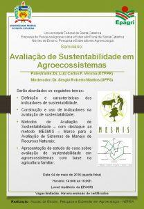 Mesa Redonda Avaliação de Sustentabilidade