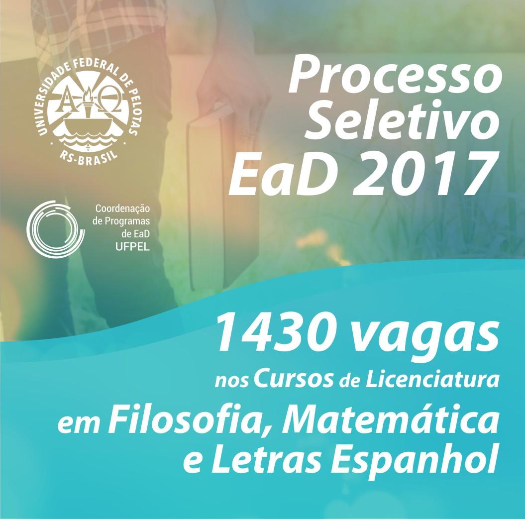 Processo Seletivo UAB/UFPel 2017/1