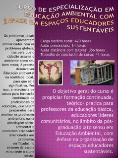 Curso de Especialização em Educação Ambiental com Ênfase