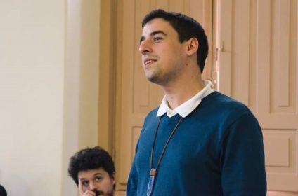 Guilherme Viegas compartilha suas experiências no Spirituality Meets Business /  (Foto: Rayane Lacerda)