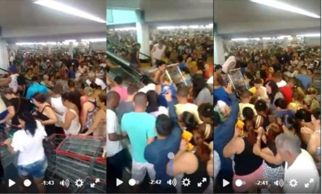 Imagens da escada rolante do supermercado Guanaraba / Print vídeo de Nilson Araujo