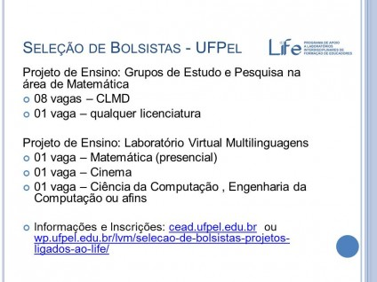 Seleção de Bolsistas - UFPel