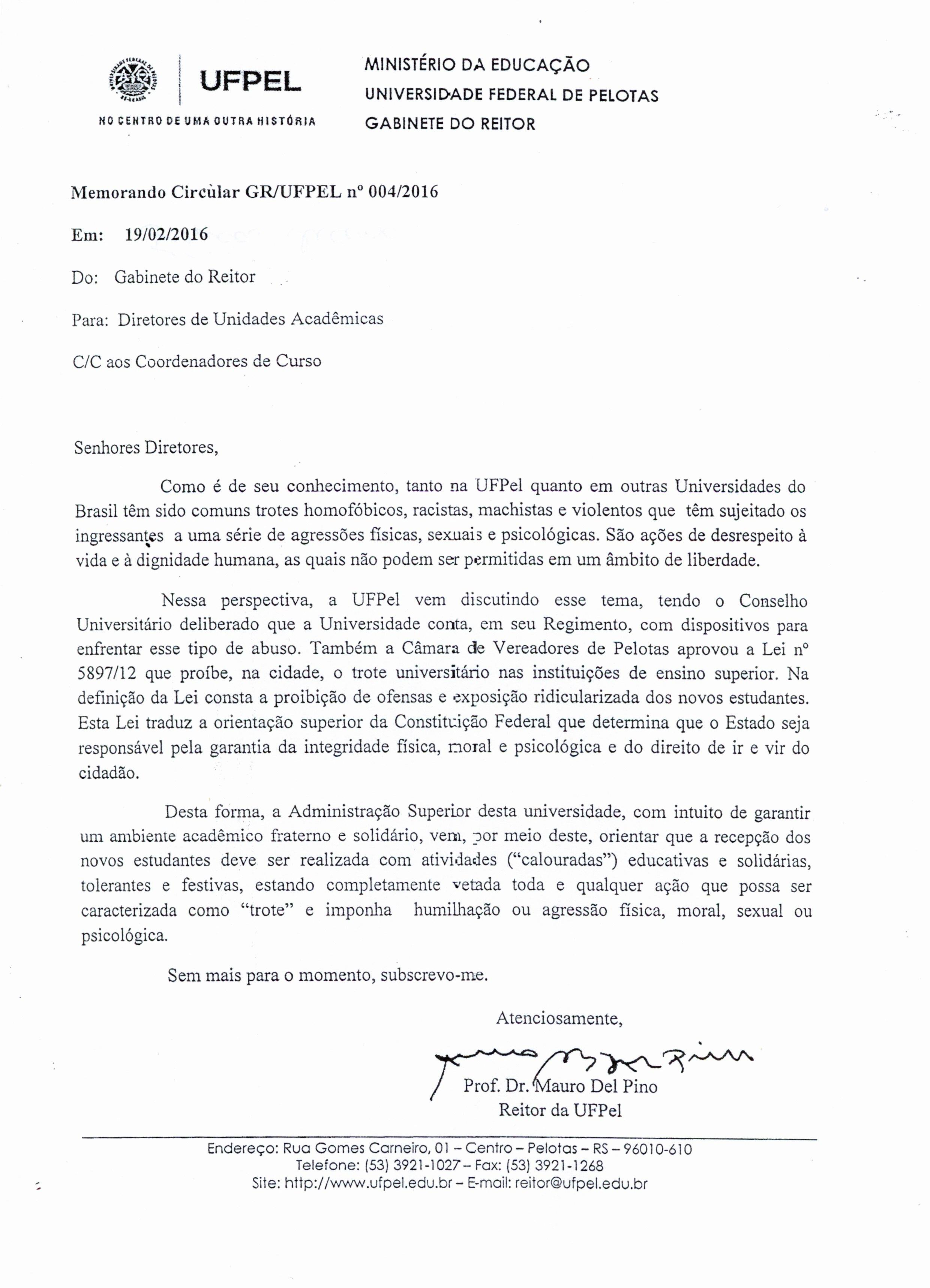 Memorando Circular 004-2016_Gabinete do Reitor