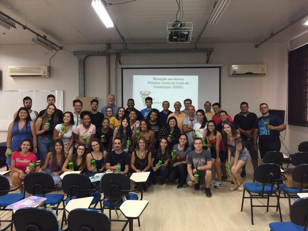 Recepção aos alunos da 1ª turma do curso de Fisioterapia