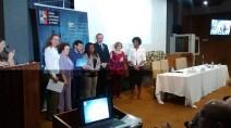 Bruno Kauss recebendo o 9° Prêmio Construindo a Igualdade de Gênero no Palácio do Planalto