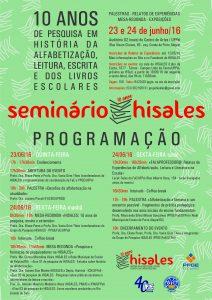 cartaz programacao seminario 10 anos HISALES