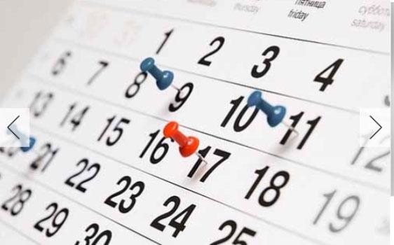 Resultado de imagem para calendario