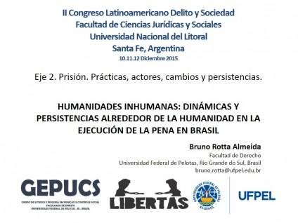 Presentacion II Congreso Latinoamericano Delito y Sociedad