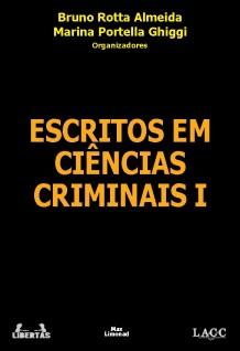 capa Escritos em Ciencias Criminais I