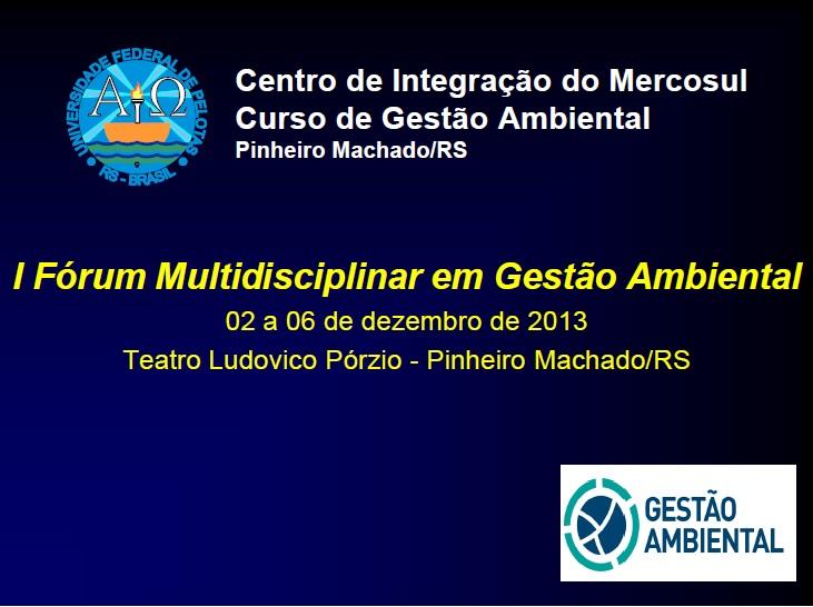 I Forum Multidisciplinar GA