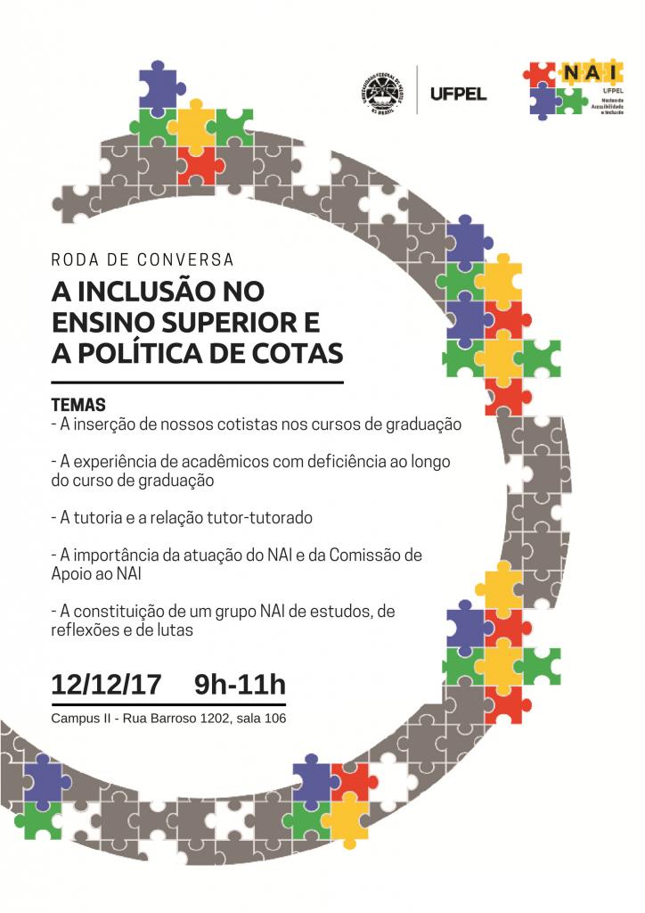cartaz da roda de conversa do NAI