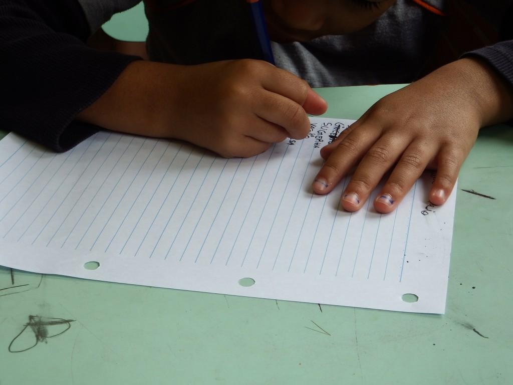 Ditado realizado com crianças do ciclo de alfabetização