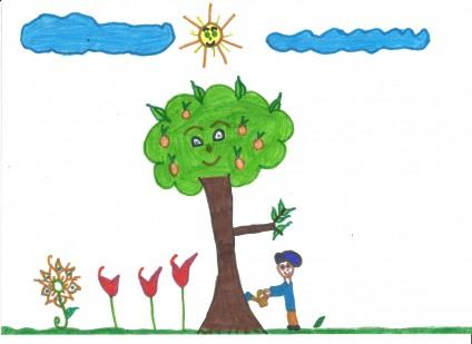 Desenho sobre temas abordados em aula.
