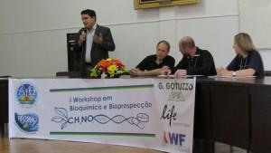 O Prof. Dr. Rafael Guerra Lund se fez presente na abertura do Workshop na qualidade de representante da PRPPG