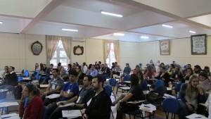 O público compareceu em ótimo número ao Workshop