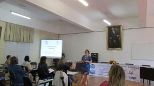 Professora Iraci Torres apresenta o seu seminário