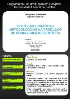 DIVULGAÇÃO_DISCIPLINA_CONCENTRADA_CESARPolíticas e Práticas Metodológicas