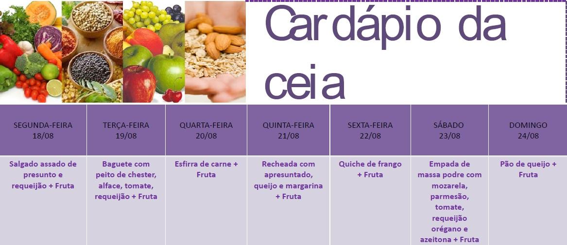 Cardápio Ceia
