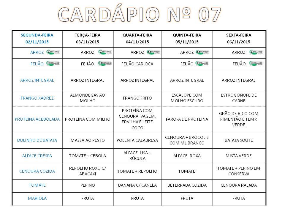 Cardápio RU 02 a 06-11-15