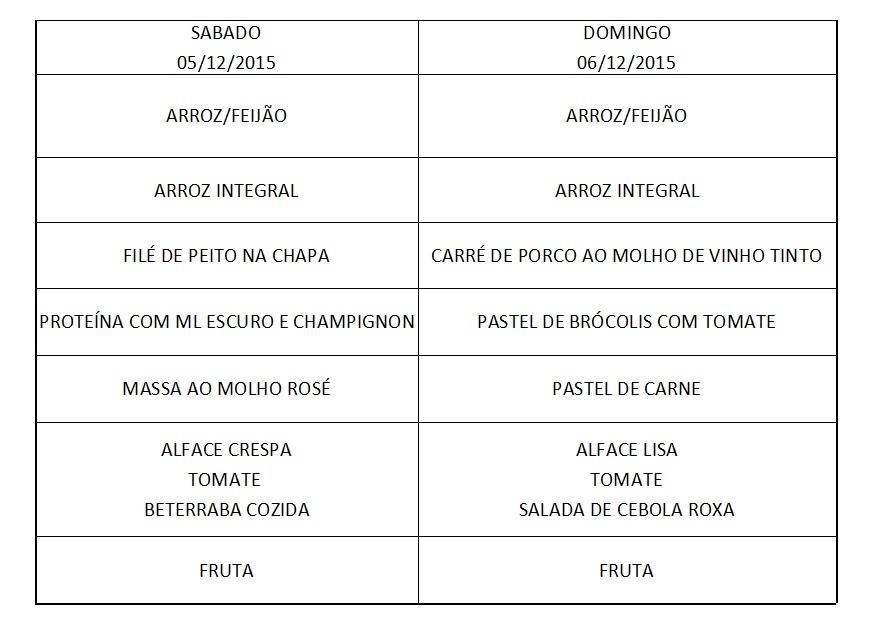 Cardápio 05 a 06-12-15