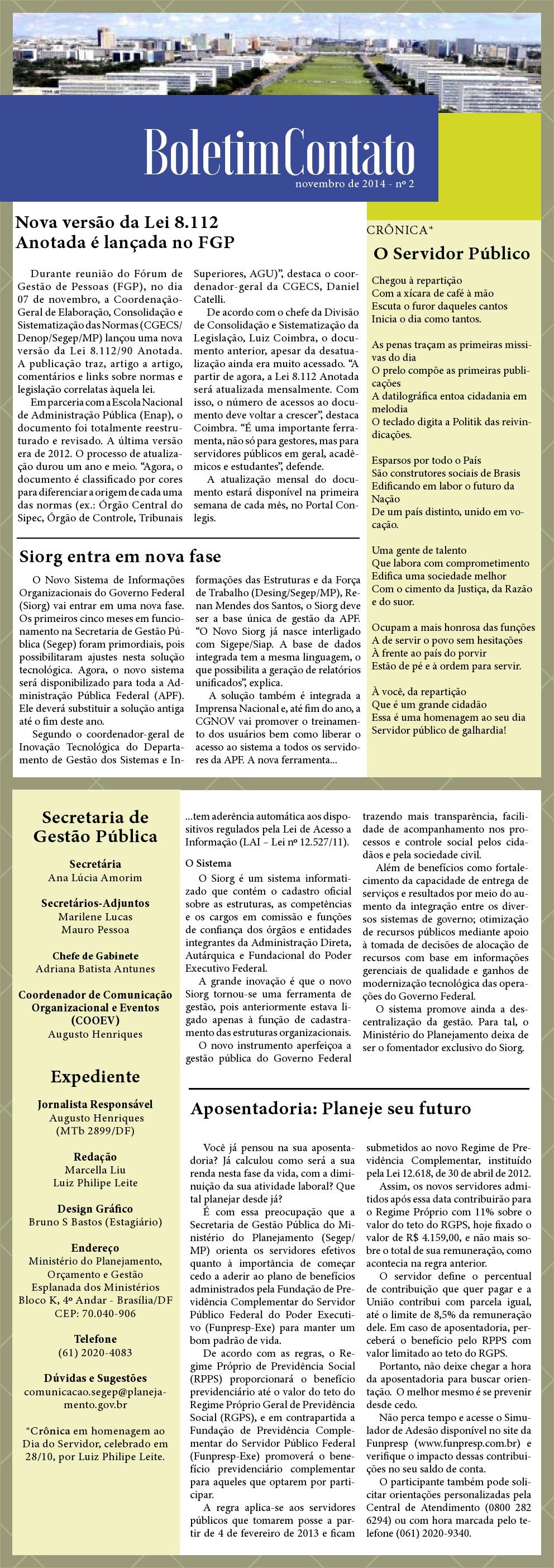 Boletim Contato - Novembro 2014