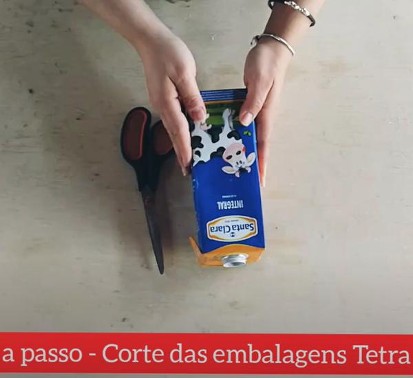 Tutorial: Como recortar as embalagens Tetra Pak®