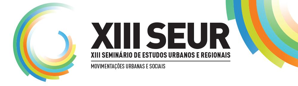 XIII Seminário de Estudos Urbanos e Regionais
