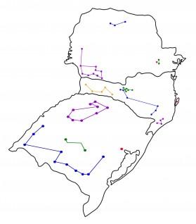 Mapa Rota Completa Região Sul